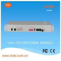Buy cheap 16E1 plus 3 port 100M Ethernet and 1 port optical ethernet PDH multiplexer  single mode single core fiber 20km AC + DC from wholesalers