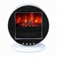 Buy cheap Electric Fireplace Heater with Portable Compact Retro Design and Wrinkles Metal Panel on Front from wholesalers