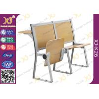 Buy cheap Lecture Hall Seats Attached School Desks And Chair Wooden Folding Furniture from wholesalers
