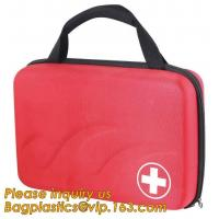Buy cheap Red pu leather waterproof mini eva first aid kit case,first aid box plastic case carrying case,Medical Multi-functional from wholesalers