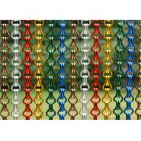 China Metal Hook Link Hanging Screen Door Curtain Size Customized For Modern Decoration on sale