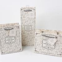 Buy cheap Vintage design jewelry packaging paper bag own logo printing rope handle from wholesalers