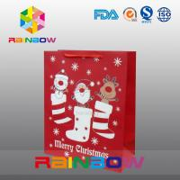 Buy cheap Red Customized Paper Bags Christmas Gift Bag With Red Rope / Cute Printed from wholesalers