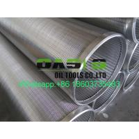 Buy cheap 10 3/4 SS304L Wedge Wire Water Well Screen Pipe for well drilling from wholesalers