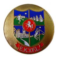 Buy cheap Customized School  Zinc alloy custom medals, with filling colors and gold plated finish from wholesalers