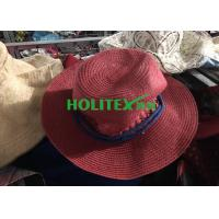 Buy cheap Colorful 2nd Hand Hats , Mixed Female Used Hats And Caps For All Seasons from wholesalers