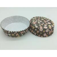 Round Flower Printed Cupcake Liners, Disposable Muffin Paper Cups Heat Resistant