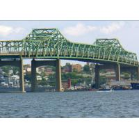 Buy cheap Highway Railway Steel Girder Bridge Arched Shape Truss Fabrication Through Plate from wholesalers
