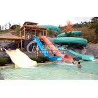 Fiberglass Cannon / Sleigh Water Slide , Outdoor Water Park Slides