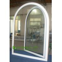 China UPVC Windows For ResidentialHome, Double Glazed Arched Casement Window, Waterproof  Vinyl Windows For Sale on sale