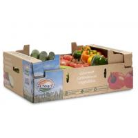 Buy cheap Recycled Vegetables Packing Boxes Flute Corrugated Paper Matt Lamination from wholesalers