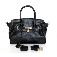 Buy cheap Wholesale Price Black Embossed Genuine Leather Design Lady Tote Bag Handbag #3084A from wholesalers