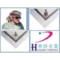 Buy cheap Arab pure wool embroidery scarf  /   Arab wool acrylic embroidery scarf / Size:50inch,52inch,55inch from wholesalers