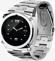 Buy cheap Leather Watchband Wristwatch Phone/Phone Watch Mobile GPRS from wholesalers