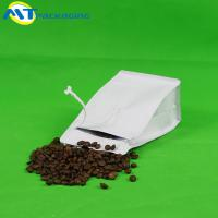Buy cheap Matt White Ziplock Coffee Bags , Aluminum Foil Gusseted Coffee Bags from wholesalers