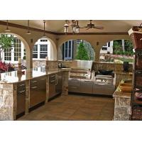 Luxury  Stone Modern Kitchen Countertops / Pre Cut Marble Countertops