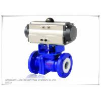 China Floating 2 Inch Motorized Ball Valve , Two Piece Type Double Acting Cylinder Control Valve on sale