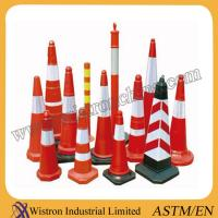 Buy cheap High Quality Flexible orange PVC traffic cone exporting Standard from wholesalers