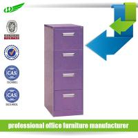 Buy cheap Purple 4 drawer filing cabinet product