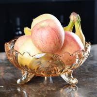 China Personalized glass fruit bowl with stand wholesale on sale