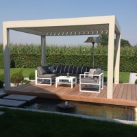 Buy cheap Customized sizes sunshade protection waterproof electric outdoor aluminum pergola from wholesalers
