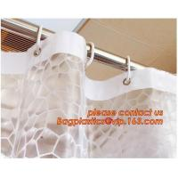 Buy cheap Water-Repellent Fabric Custom Print Shower Curtain Mildew-Resistant Machine Washable White ,Bathroom Bath Textile Fabric from wholesalers
