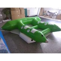 Buy cheap Water Game Banana Boat Inflatable Rafts White/ Black Logo Printing from wholesalers
