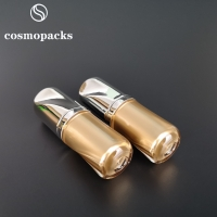 Buy cheap 15ml 0.5oz Acrylic Gold Dropper Plastic Lotion Bottles For Essential Oil product