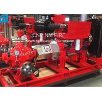 Buy cheap 1500GPM @ 155PSI UL/FM Approval Diesel Engine Drive Fire Pump With Horizontal Centrifugal Split case Fire Pump from wholesalers