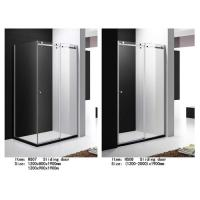 Buy cheap Tempered Glass Shower Door Enclosures With Top Roller One Side Sliding Door from wholesalers