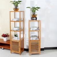 Buy cheap 4 Tier Bamboo Bathroom Shelf , Wooden Bath Rack For Exhibition Room / Flower Shop from wholesalers