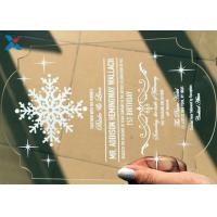 Buy cheap Recyclable Acrylic Gifts Luxury Laser Cut Clear Color DIY Acrylic Wedding Invitations from wholesalers