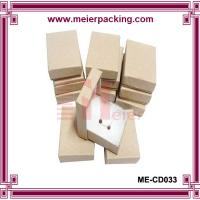 Buy cheap Square kraft jewelry paper box with cotton for earring/bracelet/necklace ME-CD033 from wholesalers