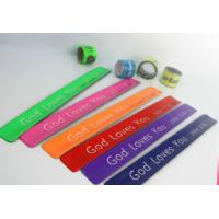 Buy cheap New customed print logo promotional pvc reflective bang crack clap bracelet gifts outdoor from wholesalers