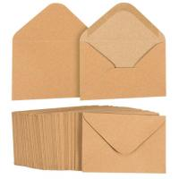 Buy cheap A1 Kraft Paper Envelopes , Multiple Uses Brown Wedding Invitation Envelopes from wholesalers