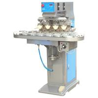 Buy cheap Economical 4 Color Pad Printing Machine with Conveyer from wholesalers