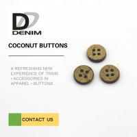 Buy cheap 16L 4H Large Coconut Shell Buttons With Custom Logo Or Design Accepte from wholesalers