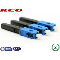 Buy cheap CATV FTTH SC PC Fiber Optic Fast Connector , Quick Assembly Connector from wholesalers