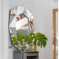 Buy cheap Multi Bevelled 3D Wall Mirror Decoration Mirrored Glass Panel Light Weight from wholesalers