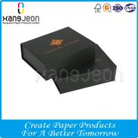 Buy cheap Luxury Black Hot Stamping Custom Logo Magnetic Closure Gift Package Paper Box from wholesalers