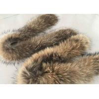 Buy cheap Brown Real Raccoon Fur Collar Trim Anti Shrink Warm For Women Winter Coat from wholesalers