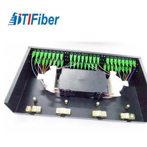 "Buy cheap SC Rack Mount Splicing Fiber Optic Terminal Box FTTH 48 Core 19"" Standard Installation product"