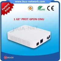 Buy cheap Plastic White Mini box FTTH ONU/Fiber  ONU 1GE GPON Router ONU/ONT with ZTE Chipset product