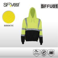 Buy cheap Color customize clothes Safety Hi Vis Fleece Hoodie with two pockets EN ISO from wholesalers