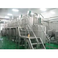 China Complete Fully Automatic Bottled Fruit Processing Line For 2T / D - 500 T / D on sale