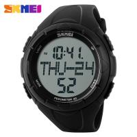 Buy cheap 3D Pedometer Style Black Sports Watch For Running Sport Men from wholesalers
