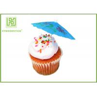Buy cheap 100% Birch Wood Wedding Cupcake Toppers Cupcake Toothpicks With Flag from wholesalers