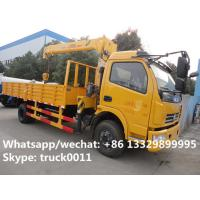 Buy cheap Dongfeng duolika 4*2 LHD 4 ton  military xcmg small truck crane for sale, best price 4tons 120hp truck mounted crane from wholesalers