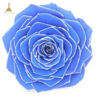 Quality Grade A Real Touch Wedding Flowers with Glitter Colors  Big Size Preserved Flower Rose for Decor Supplies for sale