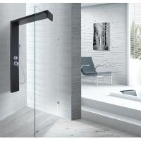 Buy cheap Black Shower Column 1500 X 900 Shower Enclosure With Double Clip SS Flexible Hose from wholesalers
